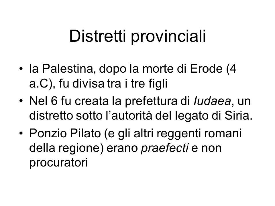 Distretti provinciali