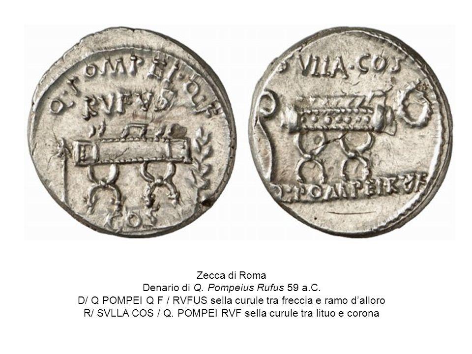 Denario di Q. Pompeius Rufus 59 a.C.