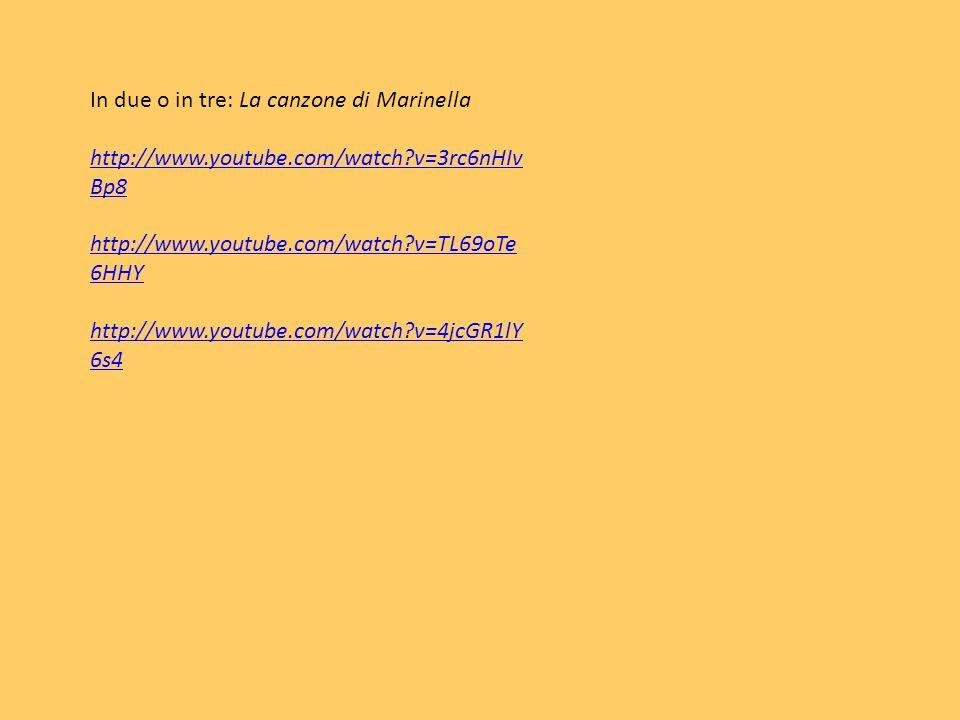 In due o in tre: La canzone di Marinella