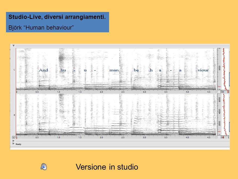 Versione in studio Studio-Live, diversi arrangiamenti.
