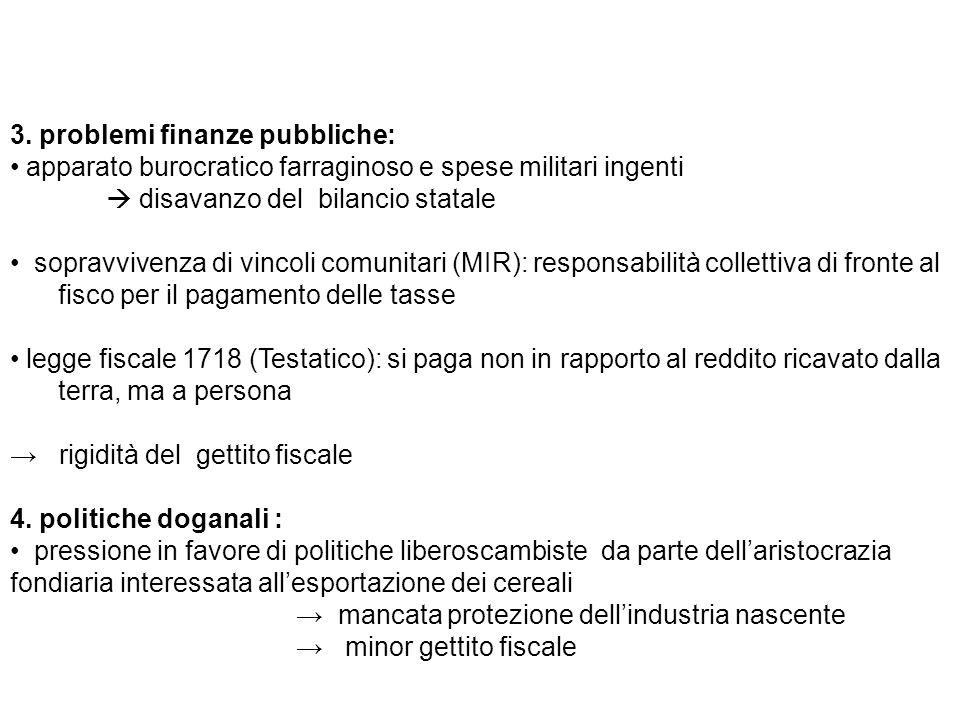 3. problemi finanze pubbliche: