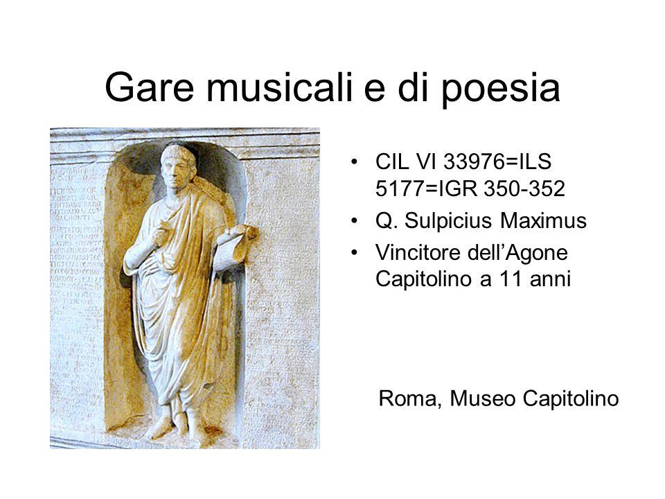 Gare musicali e di poesia