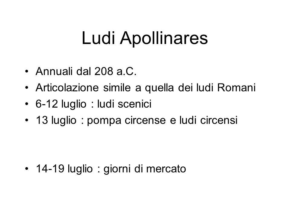 Ludi Apollinares Annuali dal 208 a.C.