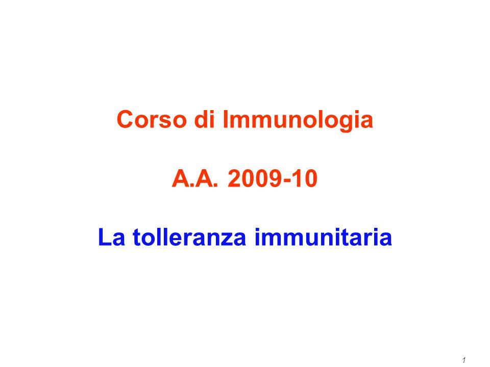 La tolleranza immunitaria