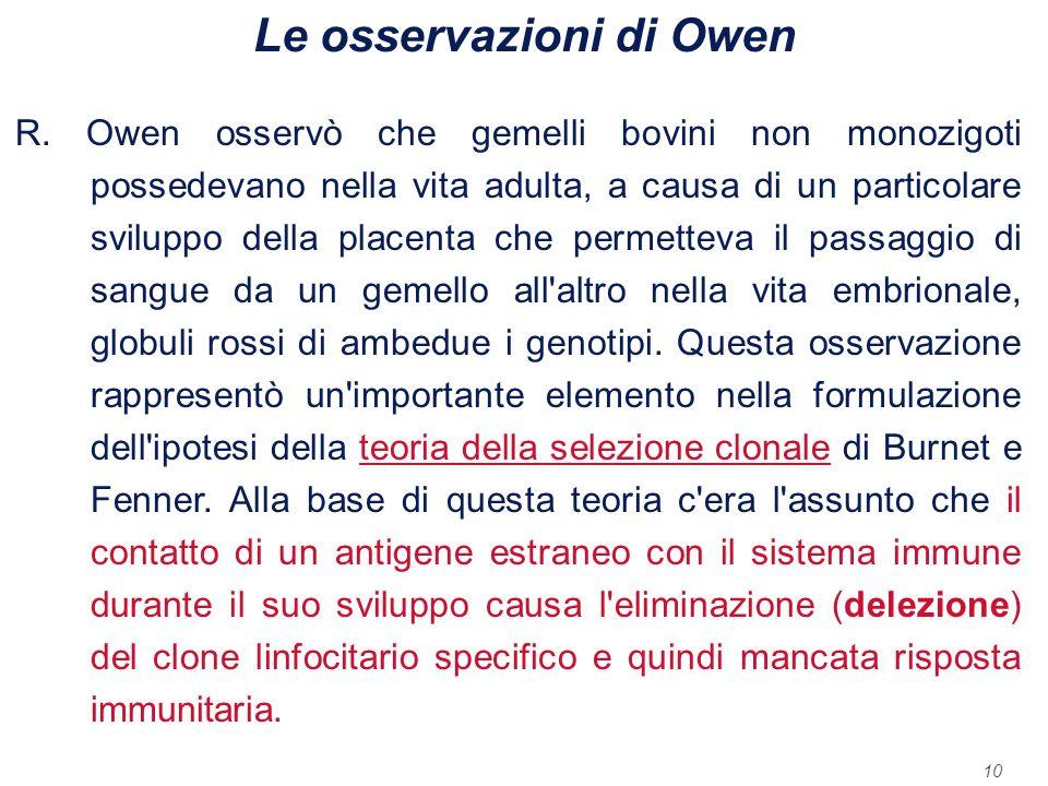Le osservazioni di Owen