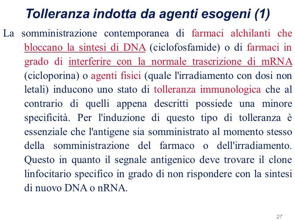 Tolleranza indotta da agenti esogeni (1)