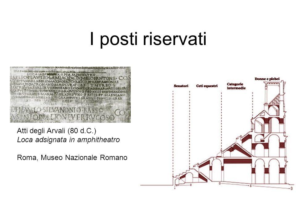 I posti riservati Atti degli Arvali (80 d.C.)