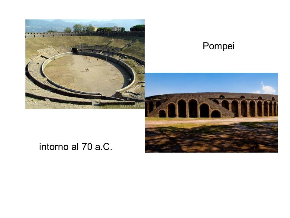 Pompei da Q. Valgo e M. Porcio, i duumviri quinquennales, è, fino ad oggi, l'edificio più antico destinato agli spettacoli gladiatorii.