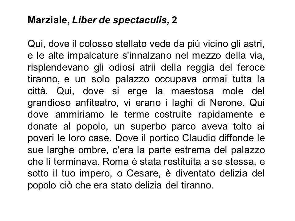 Marziale, Liber de spectaculis, 2