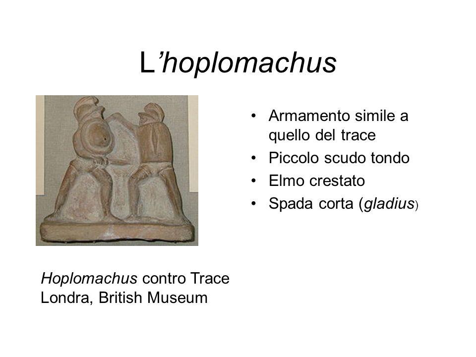 L'hoplomachus Armamento simile a quello del trace Piccolo scudo tondo