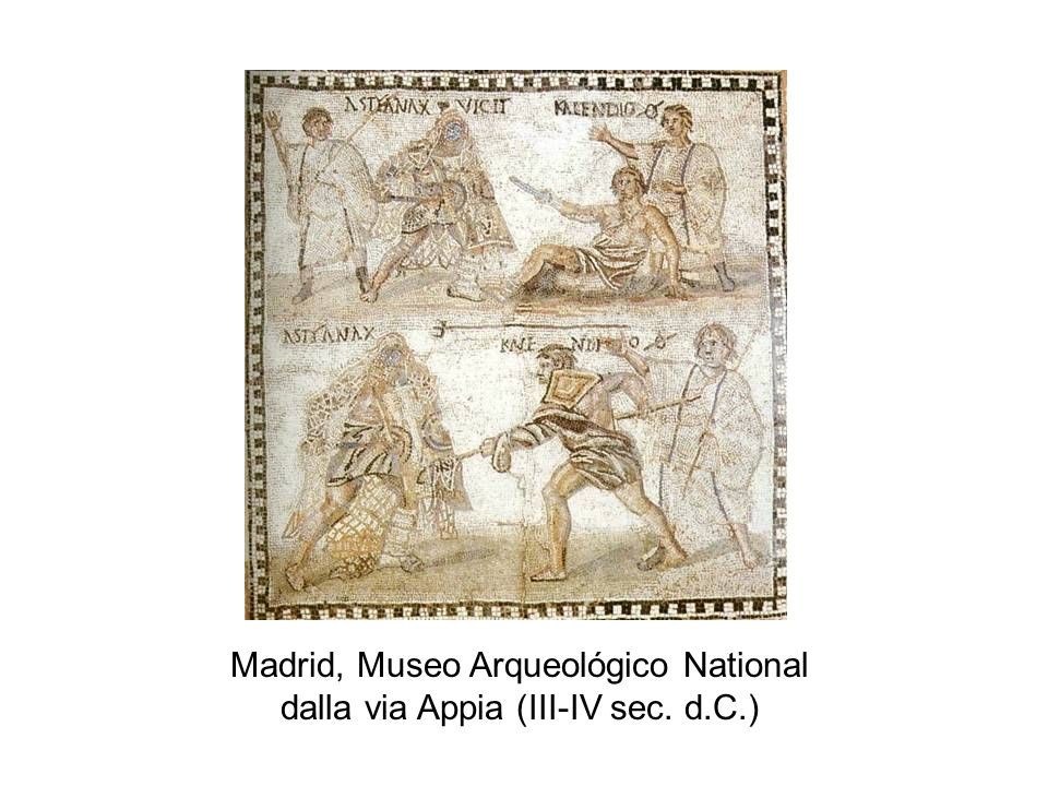 Madrid, Museo Arqueológico National dalla via Appia (III-IV sec. d.C.)