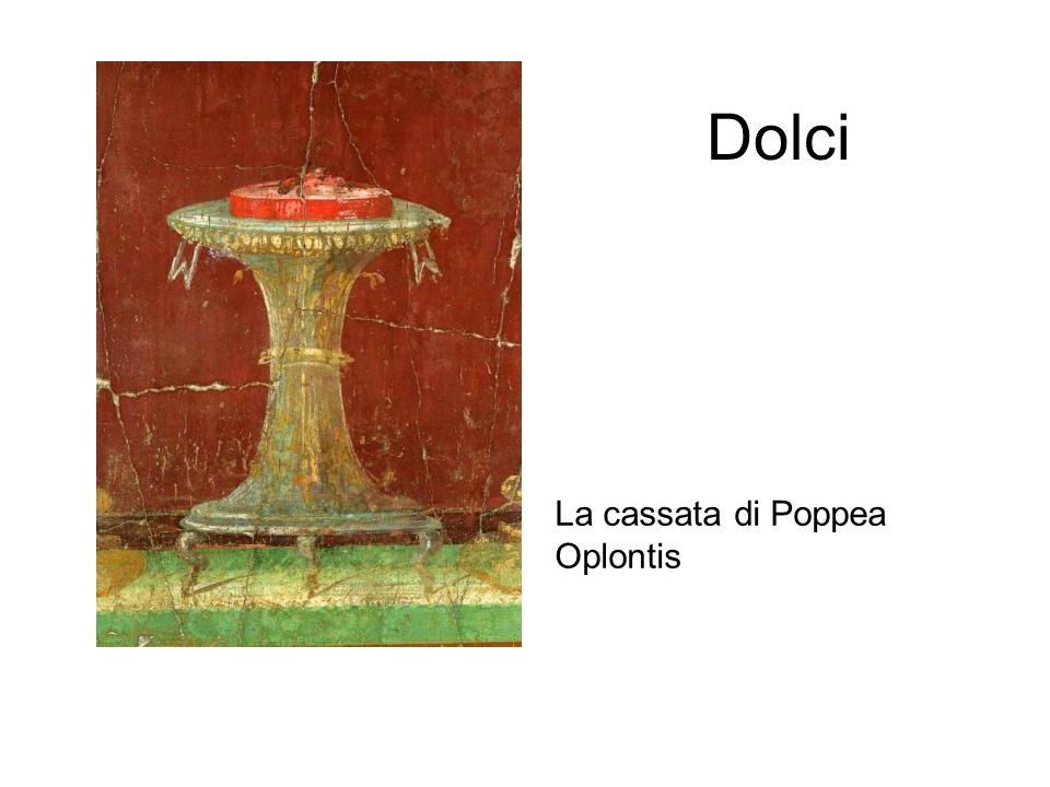 Dolci La cassata di Poppea Oplontis