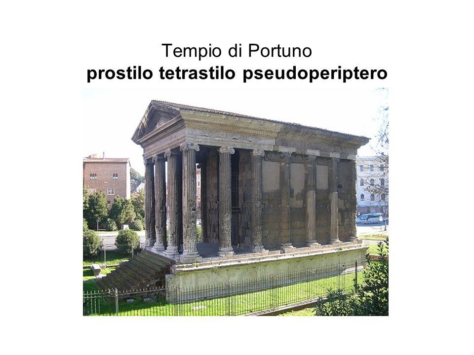 Tempio di Portuno prostilo tetrastilo pseudoperiptero