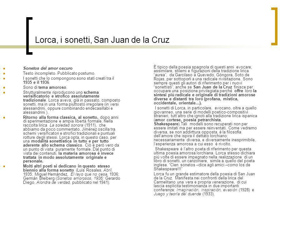 Lorca, i sonetti, San Juan de la Cruz
