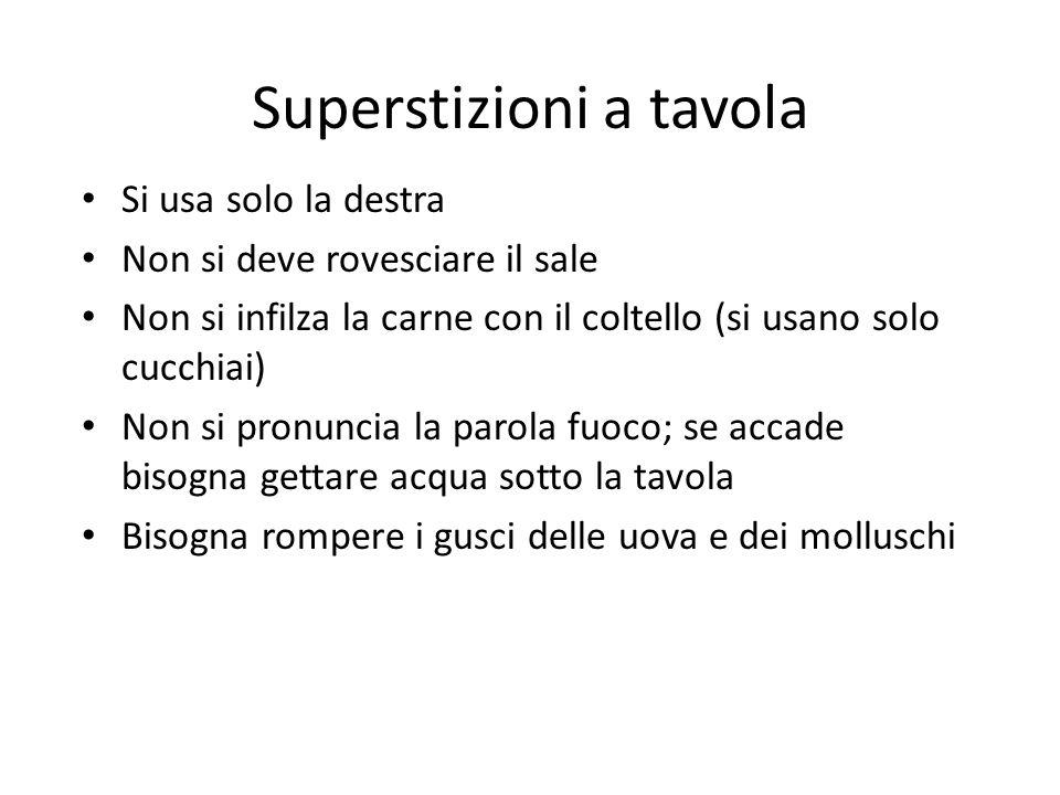 Superstizioni a tavola