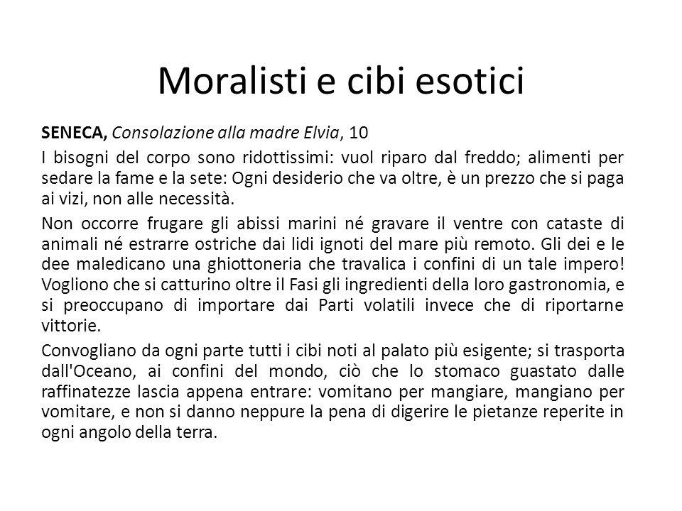 Moralisti e cibi esotici