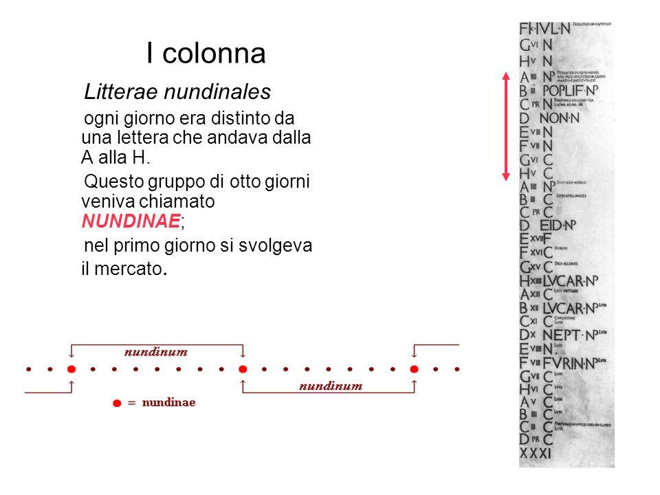 I colonna Litterae nundinales