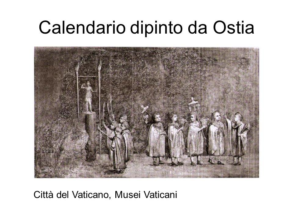 Calendario dipinto da Ostia