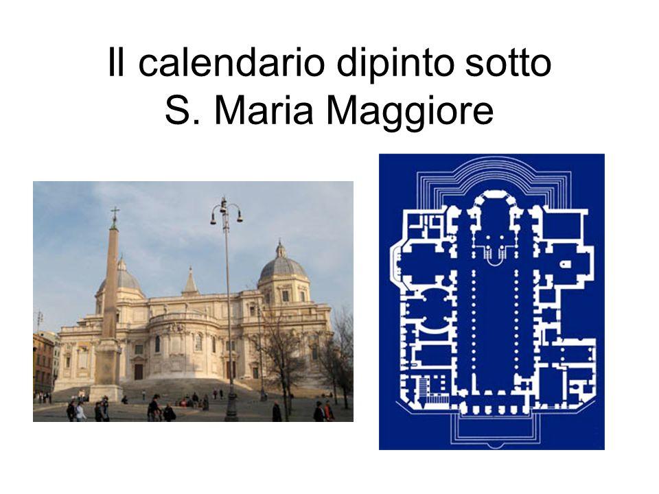 Il calendario dipinto sotto S. Maria Maggiore