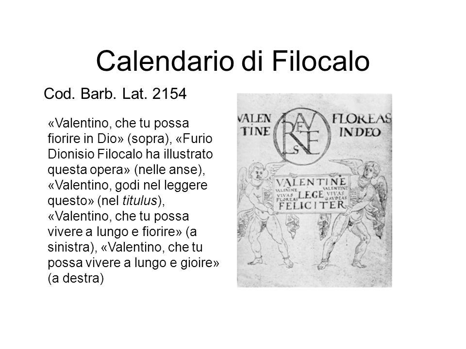 Calendario di Filocalo