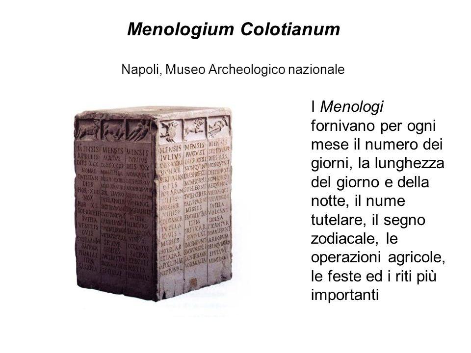 Menologium Colotianum Napoli, Museo Archeologico nazionale