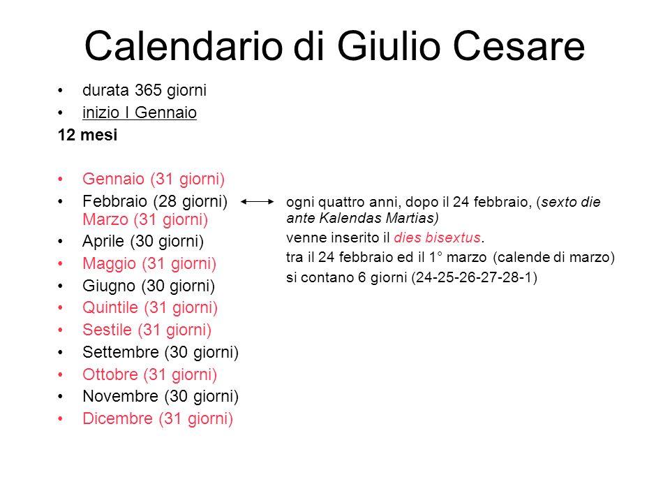 Calendario di Giulio Cesare