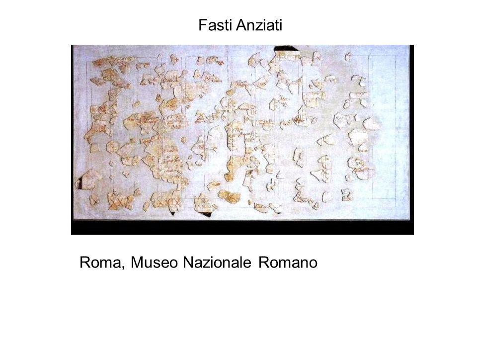 Fasti Anziati Roma, Museo Nazionale Romano