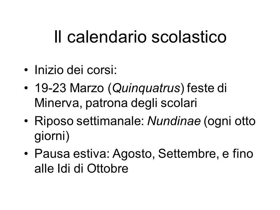 Il calendario scolastico