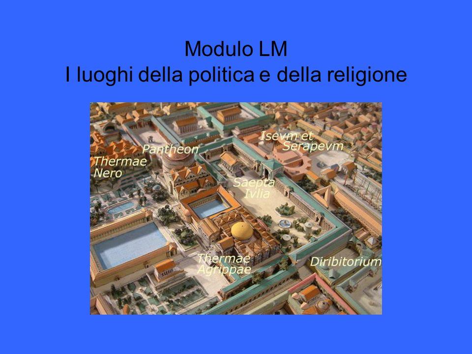 Modulo LM I luoghi della politica e della religione
