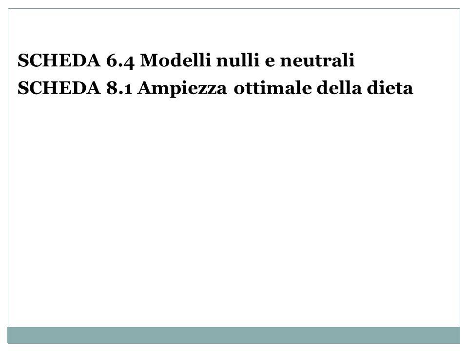 SCHEDA 6.4 Modelli nulli e neutrali