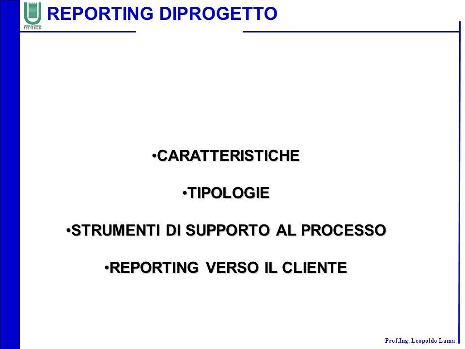 STRUMENTI DI SUPPORTO AL PROCESSO REPORTING VERSO IL CLIENTE