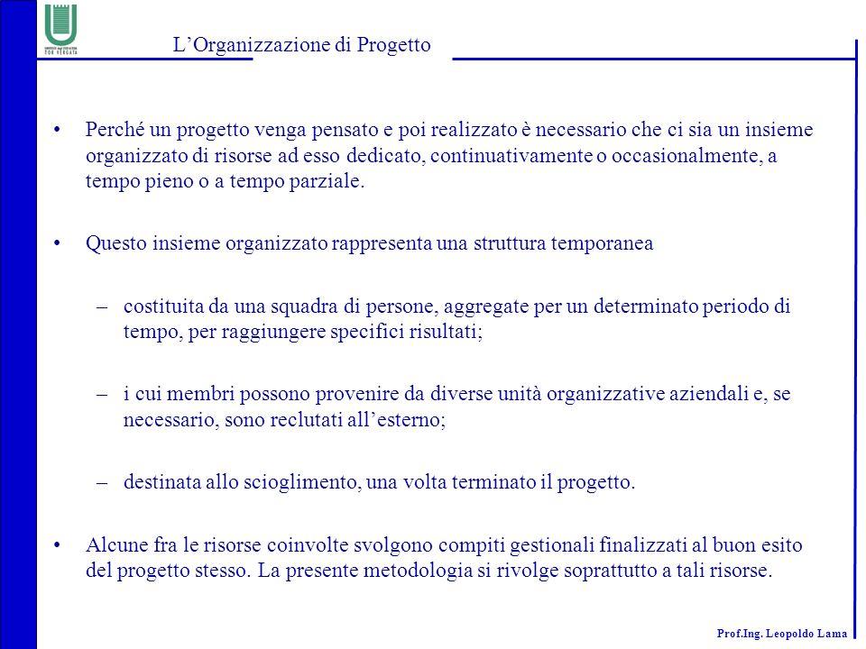 L'Organizzazione di Progetto