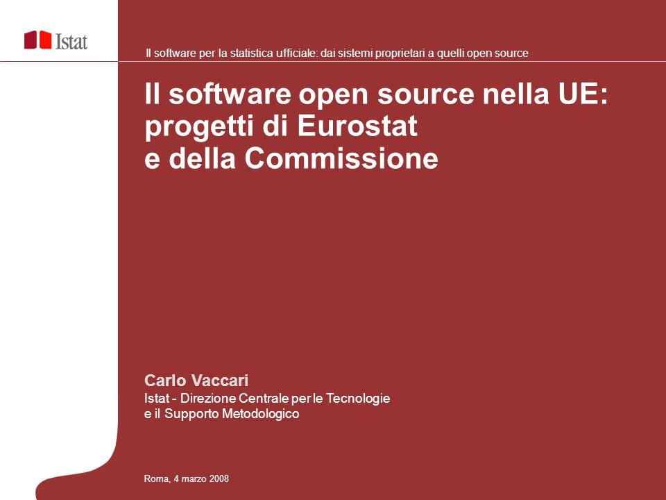 Il software open source nella UE: progetti di Eurostat