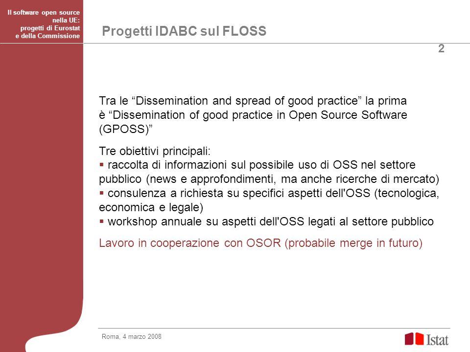 Progetti IDABC sul FLOSS
