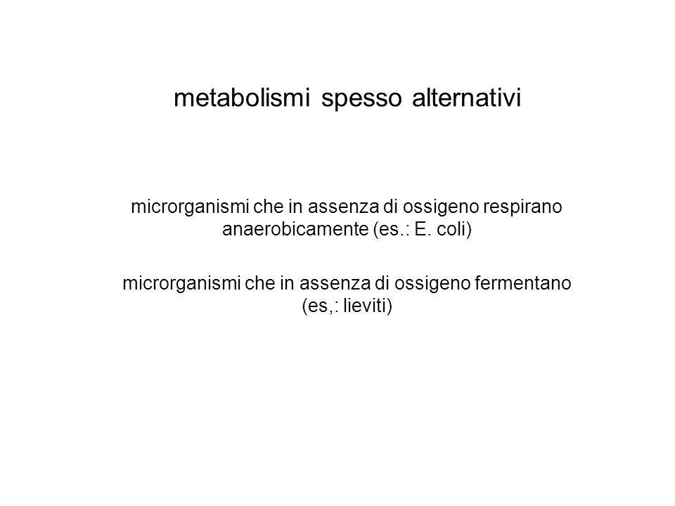 metabolismi spesso alternativi