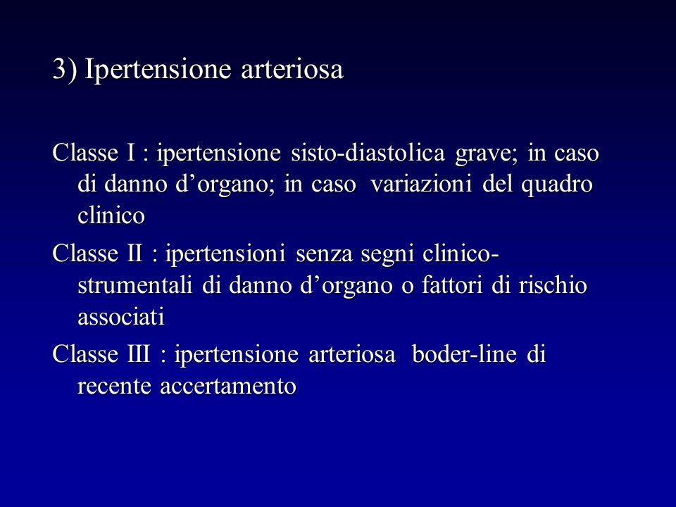 3) Ipertensione arteriosa