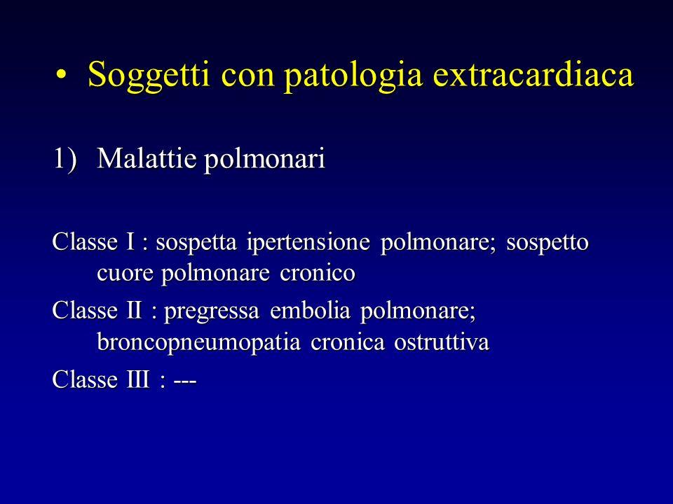 Soggetti con patologia extracardiaca