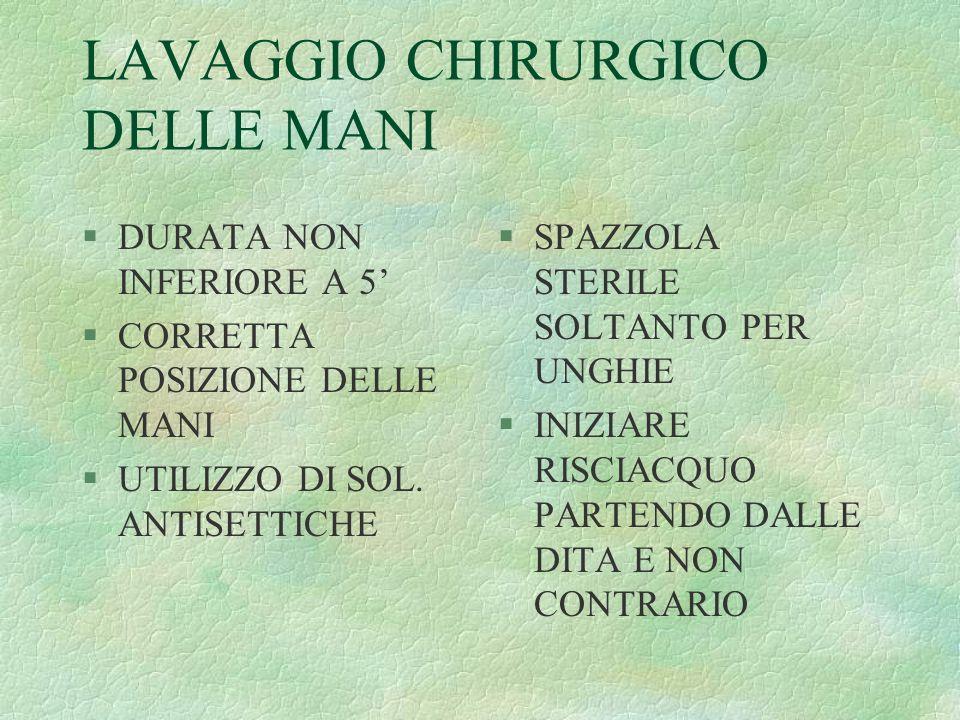 LAVAGGIO CHIRURGICO DELLE MANI