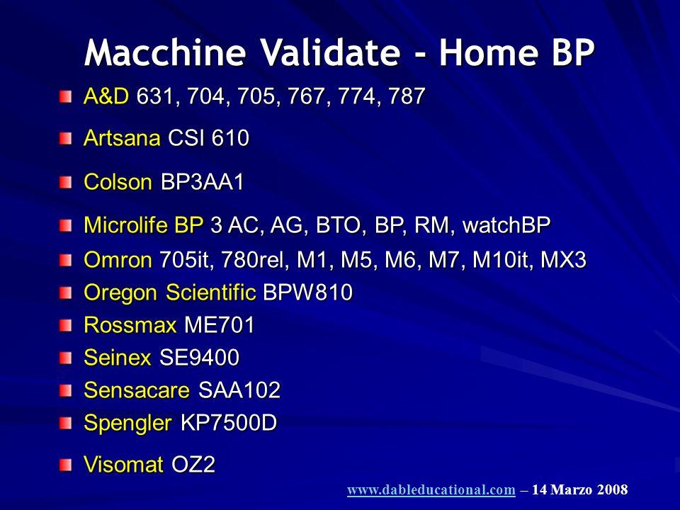 Macchine Validate - Home BP