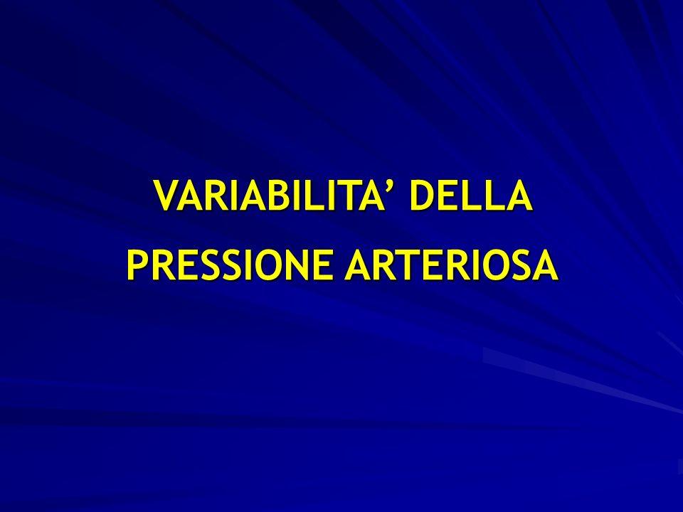 VARIABILITA' DELLA PRESSIONE ARTERIOSA