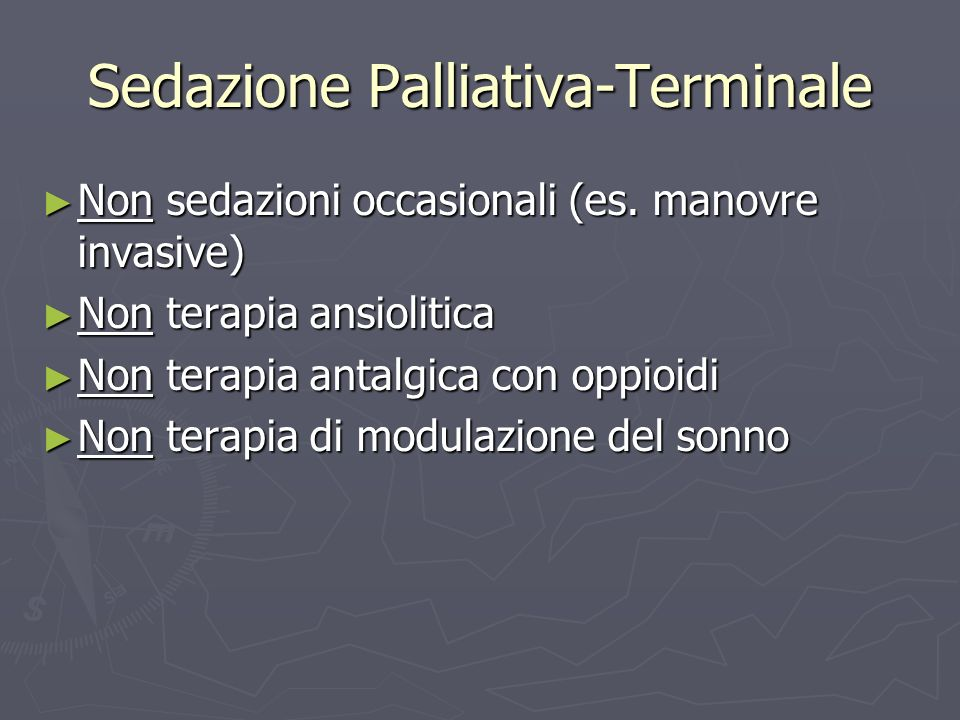 Sedazione Palliativa-Terminale