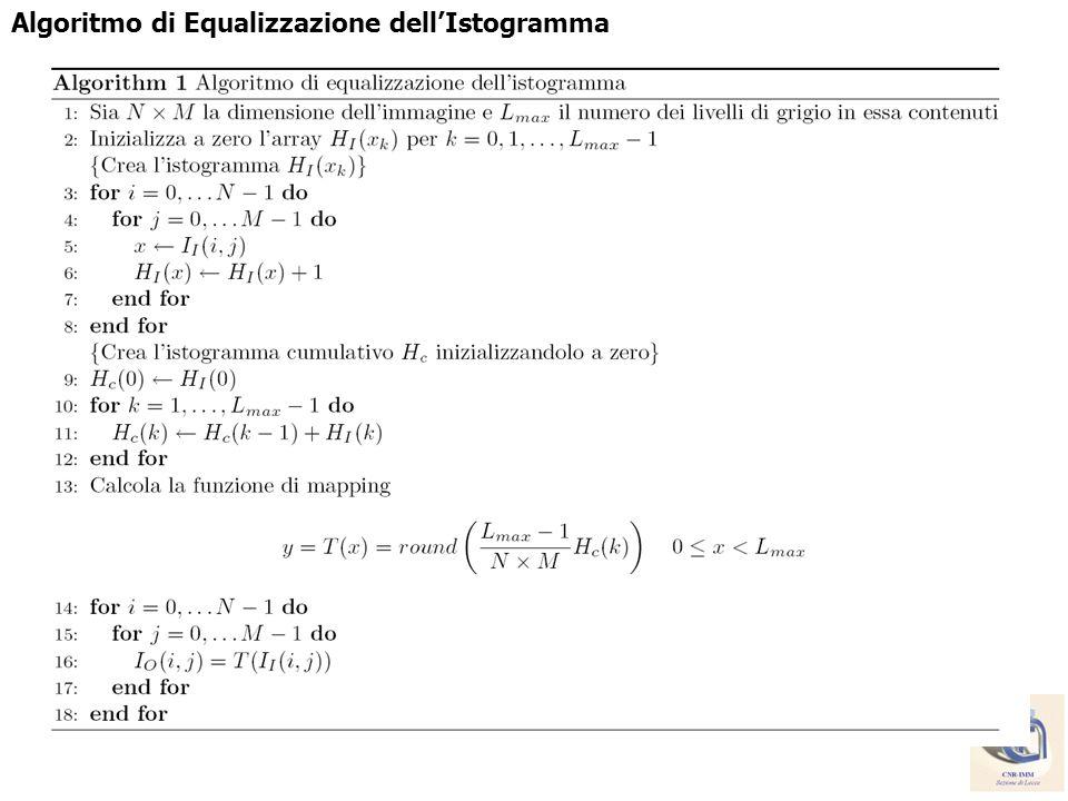 Algoritmo di Equalizzazione dell'Istogramma