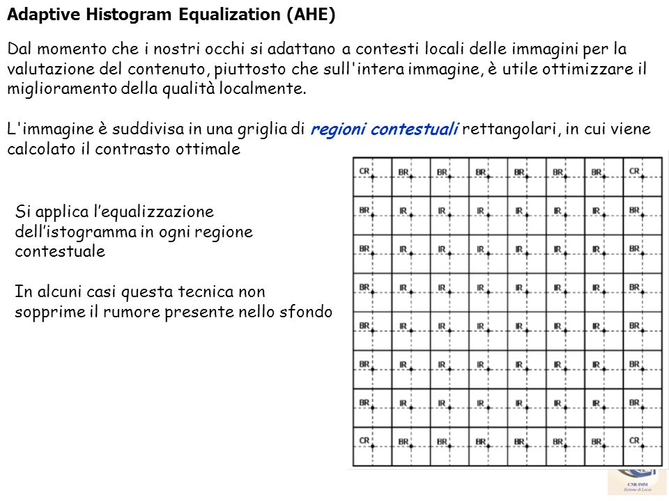 Adaptive Histogram Equalization (AHE)