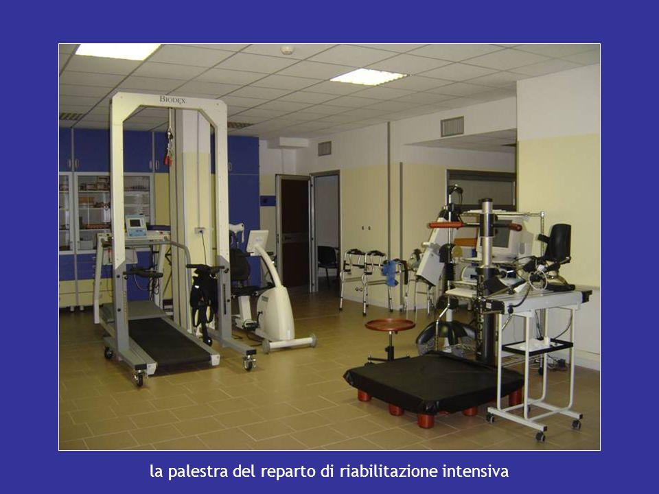 la palestra del reparto di riabilitazione intensiva