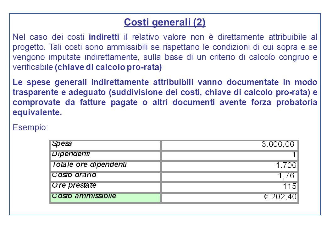 Costi generali (2)