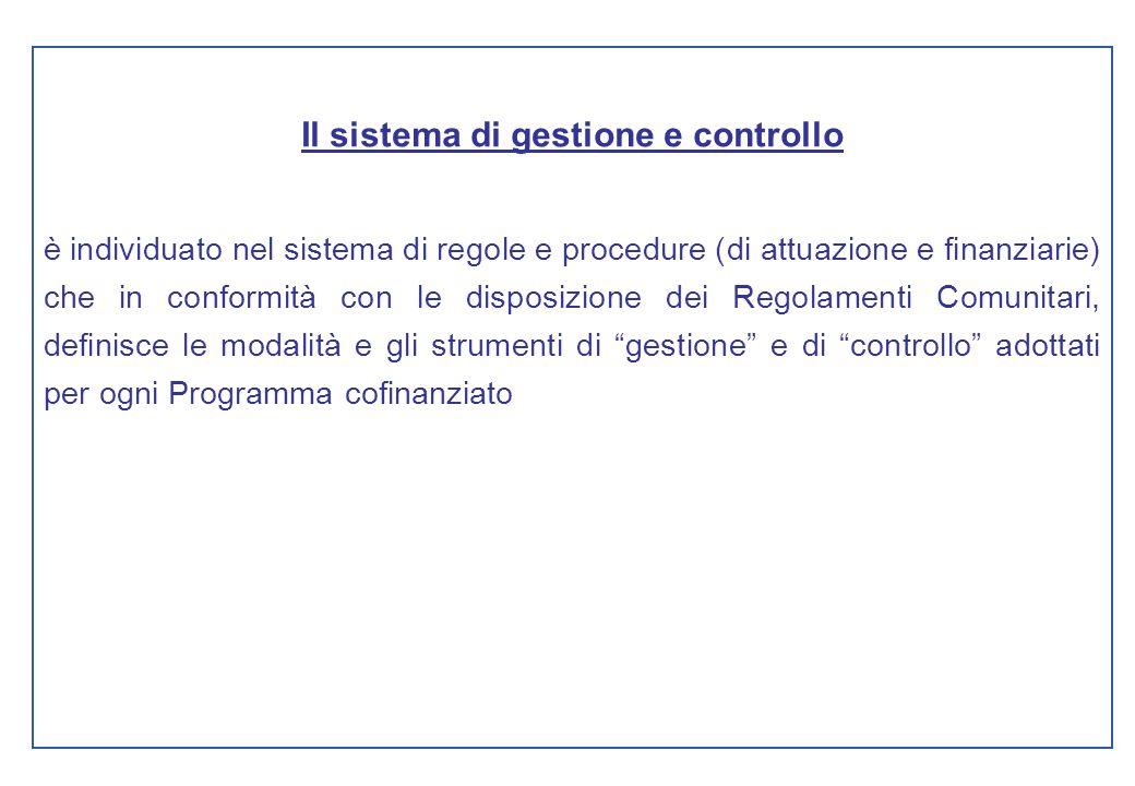 Il sistema di gestione e controllo