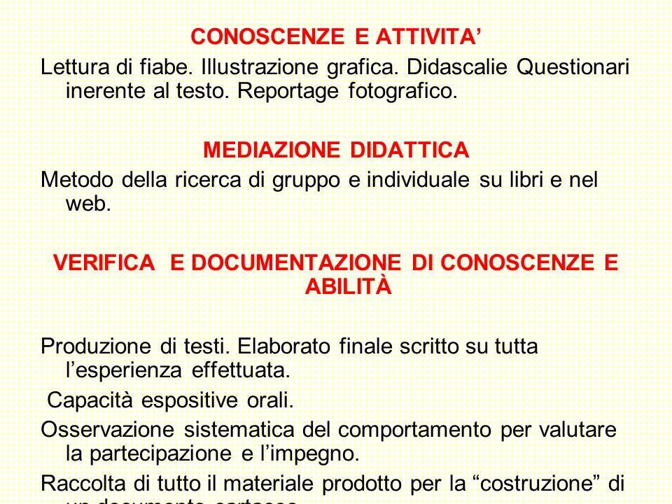 CONOSCENZE E ATTIVITA'