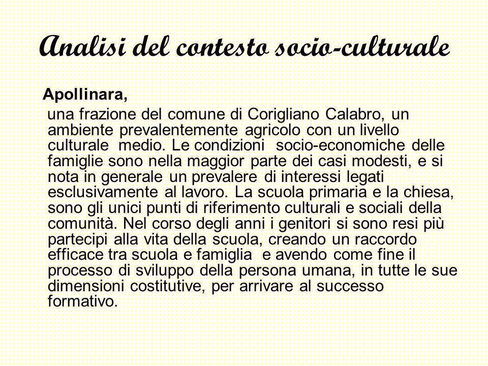 Analisi del contesto socio-culturale