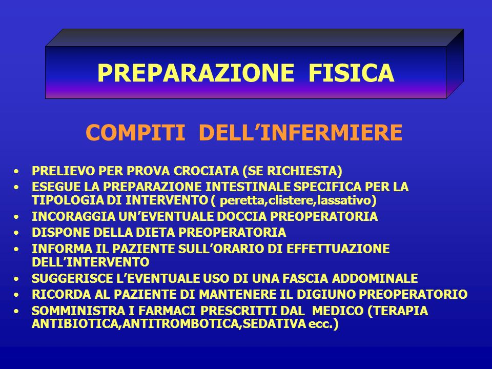 COMPITI DELL'INFERMIERE
