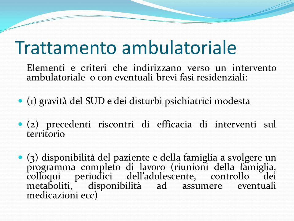 Trattamento ambulatoriale